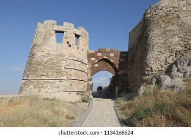 Van Castle entrance in Eastern Anatolia, Turkey.