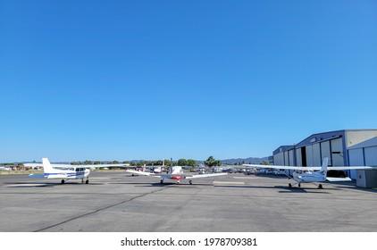 Van Nuys, California, USA, May 23, 2021: Van Nuys Airport is a public airport in the Van Nuys
