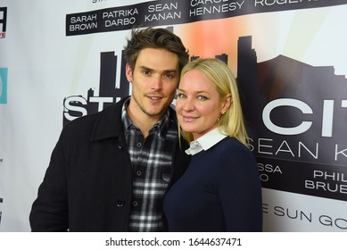 "Van Nuys, CA/USA - February 11, 2020: Sharon Case and Mark Grossman attend the ""Studio City"" screening event in Van Nuys, CA."