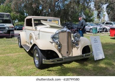 Van Nuys, USA - April 9, 2017: Chrysler Cabriolet 1932 on display during The Spring Fling 31 at the Woodley Park.