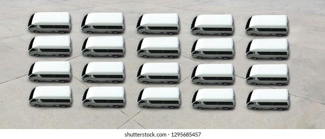 van top view for sale , transportation logistic concept