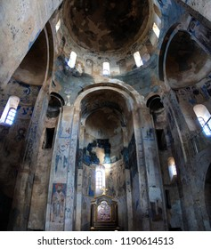 VAN, TURKEY - JUN 11, 2014 -  Remains of Christian frescoes in chyurch on Aktamar Island, Van, Turkey