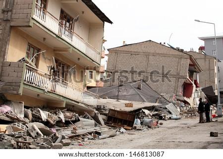 18a43dcb3b VAN TURKEY OCTOBER 25 Buildings Ruined Stock Photo (Edit Now ...
