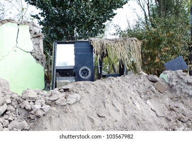VAN, TURKEY-NOVEMBER 1: Earthquake damage in the Guvecli Village in Van, Turkey. November 1, 2011.