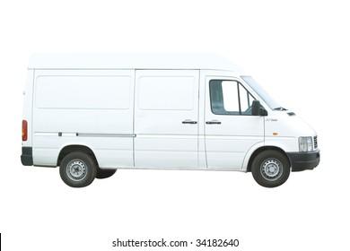 Van under the white background