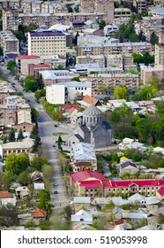 Vanadzor city, view from a height