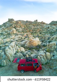 Vanagon in Joshua Tree