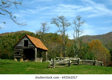 Vance Birthplace Cabin and Fence