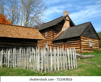Vance Birthplace Cabin and Wood Fence