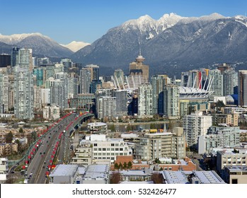 VANCOUVER  2017 - Grouse Mountains, Cambie Bridge, BC Place Stadium, False Creek, Yealtown and downtown, British Columbia, Canada