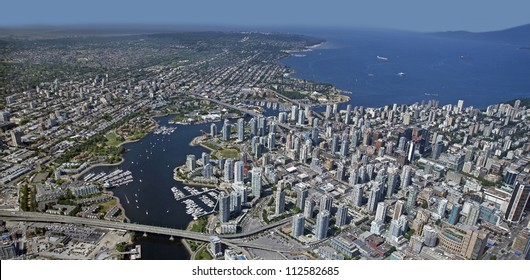 Vancouver Aerial, False Creek, Downtown, Kitsilano and Point Grey