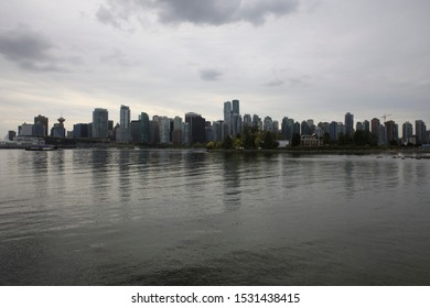 Vancouver, America - August 18, 2019: Hallelujah point, Vancouver, America