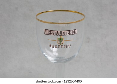 Vancouver, BC / Canada - 11 17 2018: Studio Shot of Empty Westvleteren Trappist glass.