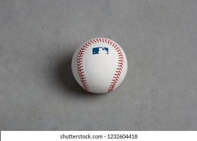Vancouver, BC / Canada - 11 17 2018: MLB Baseball - Studio Shot