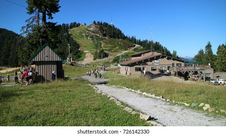 Vancouver, BC, Canada - August 26, 2017 :Grouse Mountain in summertime