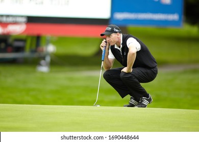 Vancouver, BC / Canada - July, 20th 2011: RBC Canadian Open - US Open Champion Jim Furyk Lines up a Putt.