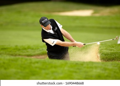 Vancouver, BC / Canada - July, 20th 2011: RBC Canadian Open - 2003 US Open Champion Jim Furyk Plays out of a Bunker.