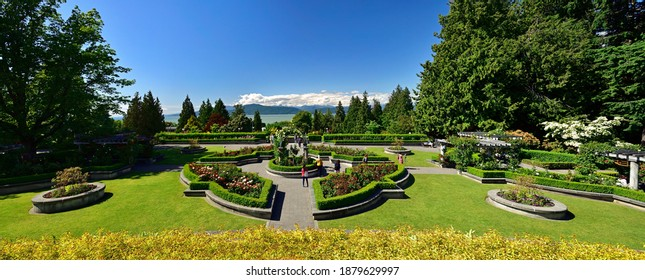 VANCOUVER, BC, CANADA, JUNE 03, 2019: The Rose Garden at the University of British Columbia campus in Vancouver