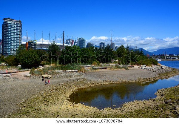 VANCOUVER BC CANADA JUNE 15 2015: BC Place is a stadium located at the north side of False Creek, in Vancouver, British Columbia, Canada. It is owned and operated by the BC Pavilion Corporation