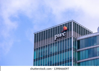 Vancouver, BC \ Canada - March 12 2019: Logo of PWC - DescriptionPricewaterhouseCoopers -  the largest professional services firm in the world, one of the Big Four auditors
