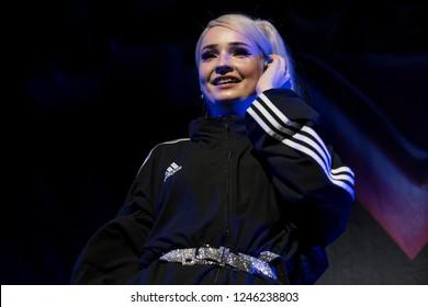 Vancouver, BC / Canada - November 8 2018: German singer Kim Petras performing at the Queen Elizabeth Theatre