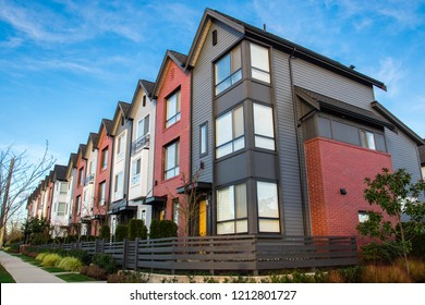Vancouver, BC, Canada - October 26, 2018: New housing being build following high demand on property in Vancouver and all over the world.