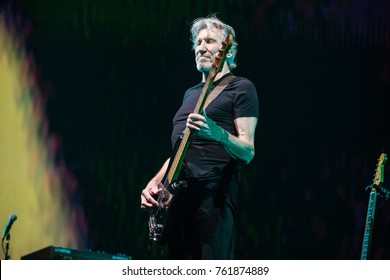 Vancouver, BC / Canada - October 28 2017: Roger Waters of Pink Floyd for his 'Us + Them Tour' at Rogers Arena in Vancouver, BC on October 28th 2017
