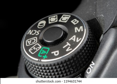 Vancouver, BC / Canada - October 2nd 2018 - Buttons and Dials on the Top of a Modern Camera
