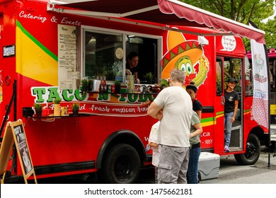 Vancouver, British Columbia / Canada - August 10, 2019: Vancouver Chinese Festival. Mexican Food Truck