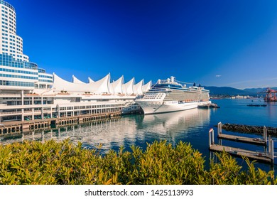Vancouver, British Columbia / Canada - September 24th 2018: View of Canada Palace from Granville Plaza, Vancouver, British Columbia, Canada, North America