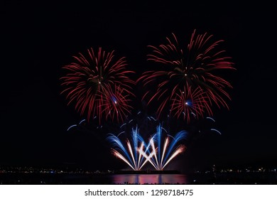 Vancouver, British Columbia/Canada - August 01 2018 : Celebration of Light - Perform by Sweedan