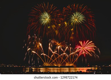Vancouver, British Columbia/Canada - August 01 2018 : Celebration of Light - Perform by Swedan