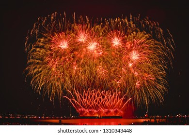 Vancouver, British Columbia/Canada - August 01 2018 : Celebration of Light - Perform by Sweden