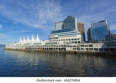 VANCOUVER, BRITISH COLUMBIA/CANADA - June 08, 2017: Canada Place is a building situated on the Burrard Inlet waterfront of Vancouver. Exclusive to Shutterstock.