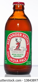 Vancouver / Canada - April 2008: Alexander Keith's IPA. Canadian stubby beer bottle from the 1970's.