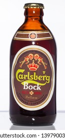 Vancouver / Canada - April 2008: Carlsberg Bock. Canadian stubby beer bottle from the 1970's.