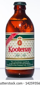 Vancouver / Canada - April 2008: Kootenay Pale Ale. Canadian stubby beer bottle from the 1970's.
