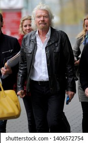 VANCOUVER, CANADA - APRIL 25, 2017: Richard Branson wears a leather jacket as he arrives at TED Talks Conference in Vancouver, Canada