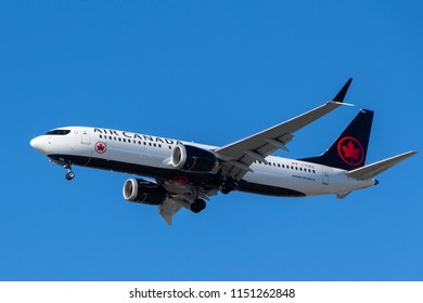 Vancouver, Canada - Circa 2018 : Boeing 737 in Air Canada Livery
