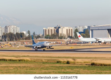 Vancouver, Canada - Circa 2018 : Boeing 737 in Westjet Livery