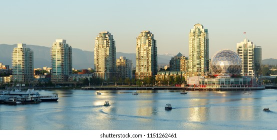 Vancouver, Canada - Circa 2018 : Science World and Main Street A