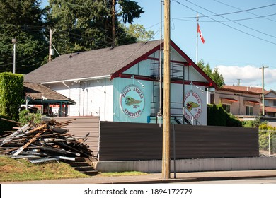 Vancouver, Canada - July 13,2020: View of sign Hells Angels Club Building in Vancouver