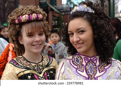 VANCOUVER, CANADA - MARCH 16, 2008: Hundreds of colorfully dressed people took part in St. Patrick's Day celebration in Vancouver, Canada, on March 16, 2008.