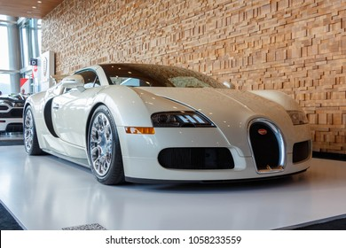 Vancouver, Canada - March 2018 : Bugatti Veyron Roadster, taken at 2018 Vancouver International Auto Show