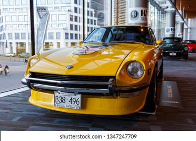 Vancouver, Canada - March 2019 : 1973 Datsun 240z, taken at 2019 Vancouver Auto Show