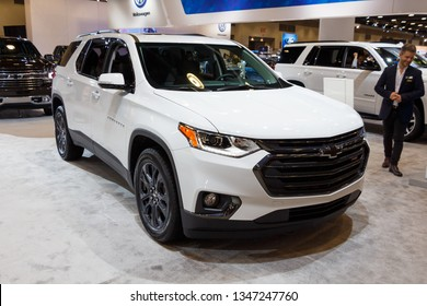 Vancouver, Canada - March 2019 : Chevrolet Traverse, taken at 2019 Vancouver Auto Show