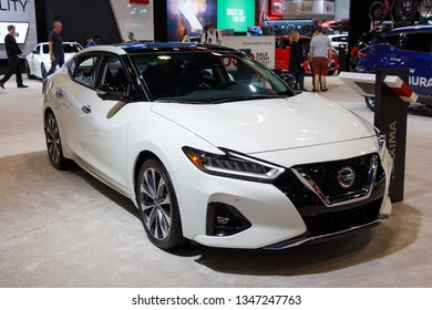 Vancouver, Canada - March 2019 : Nissan Maxima, taken at 2019 Vancouver Auto Show