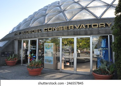 VANCOUVER, CANADA - MAY 21: The Bloedel Conservatory in Vancouver, British Columbia, Canada, as seen on May 21, 2010. It is located at the top of Queen Elizabeth Park.