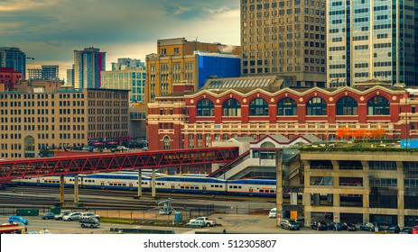 Vancouver Canada,November 4, 2016,waterfront station in Fall morning,Vancouver downtown,Vancouver,BC,Canada