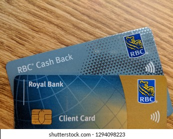 Vancouver, CAnda BC, Januray 24. 2019: RBC Debit and credit card